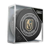 VEGAS GOLDEN KNIGHTS 2018 STANLEY CUP PLAYOFFS NHL OFFICIAL GAME PUCK w/Cube