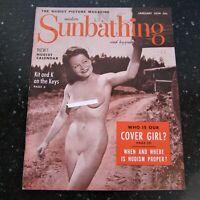 Modern Sunbathing January 1954 Nudism Vintage Playboy