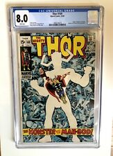Thor #169 CGC 8.0 (1969) - White Pages! - Origin Of Galactus- MCU Key!