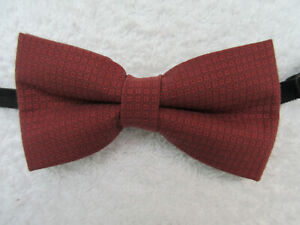 BROWN PATERNED 4.5 INCH WIDE POLYESTER BOW TIE