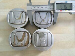 Set of 4 Honda 58mm wheel centre caps 44732 S5A 0000 # JL261