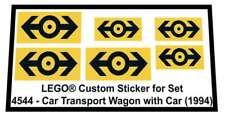 Lego® Custom Sticker for Train 9V set 4544 - Car Transport Wagon with Car (1994)