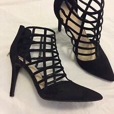 Marc Fisher 8.5 M Maples Black Caged Strappy Heels Pumps Shoes $98
