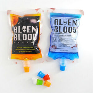 Reusable Blood Bags Halloween Party Haunted House-Drink Container Decorations