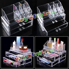 Make Up 3 Case Boxes For Storage Cosmetic Jewellery Drawers hot