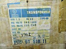 NEW GE GENERAL ELECTRIC 9T51B11 TRANSFORMER PRI 240/480 SEC 120/240 1.5 KVA