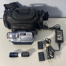 Sony Handycam Hi8 DCR-TRV250 Video Camera Camcorder Recorder Tested & Working
