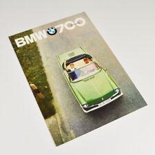 BMW 700 Cabrio - alter Prospekt - Faltblatt - Vintage Sales Brochure - 1962