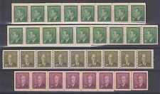 CANADA 1950 Sc 297-299 STRIPS OF 46, 50, 9 & 29 MNH F,VF CV$189.60++
