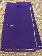 Vera Bradley Purple Bath Wrap Towel Cover-up Beach Pool Swim