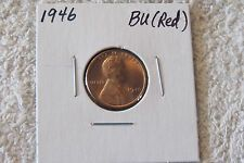 1946 Lincoln Cent (CHOICE BU RED) - Beautiful Red, Stunning Coin!