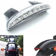 Chopped Fender Edge LED Tail Light For Harley Sportster XL883 1200 Clear Lens