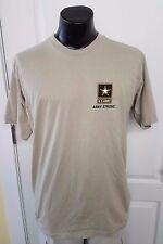 US Army goarmy.com Star Logo Brown Tan T Shirt Small Rare