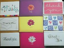 Lot of 35 note cards & blank thank you greetings 9 sets gold silver Gartner