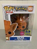 Funko Pop Pokemon #580 Flocked Vulpix SDCC 2020 SHARED Sticker Exclusive In Hand