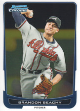 2012 Bowman Chrome Baseball #38 Brandon Beachy Atlanta Braves