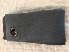 "Restoration Hardware Baby Child Grey Gray Cotton Grommet Drapery Panel 84"" Drape"