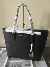 ac081c75f6b6 BNWT Genuine Michael Kors Jet Set Travel Saffiano Leather Tote bag in Black