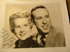VINTAGE TV HISTORY:SIGNED PHOTO PERFORMERS MARY KAY & JOHNNY 1ST SITCOM 1947