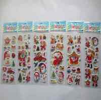 5 pcs Christmas Stickers for Kids Xmas Craft Gift Card-Making Home Decoration