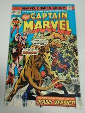 Marvel CAPTAIN MARVEL #39 (1975) Watcher Appearance Al Milgrom Cover