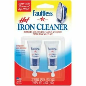 2 Tubes Faultless HOT IRON CLEANER - Factory Sealed- 10G total- Ships Free