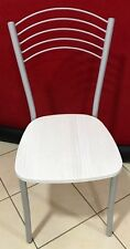 Sedia moderna per cucina,salone,bar,locale arredo moderno seduta legno bianco