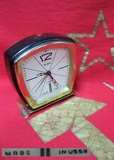 vintage LEGENDARY Alarm CLOCK SLAVA 11 JEWELS Soviet Russia 60s USSR