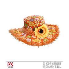 Ibiza Hat Sunflower Orange Summer Holiday Fancy Dress Costume Accessory