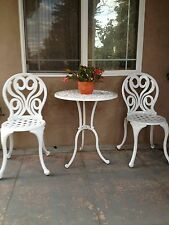Outdoor Bistr Set Patio Aluminum Furniture 3 Piece A