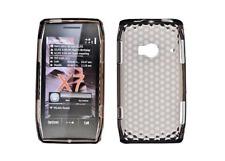 Housse Etui Coque Silicone Gel Noir Diamand ~ Nokia X7 / X7-00