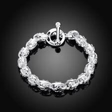 925 Hallmark Sterling Silver Filled Dragon Head Link Bracelet Gift Woman BL335