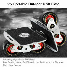 Skate Drift Board Pair Portable Metal Plate Freeline Wide Wheels 6th Generation