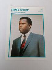 Sidney Poitier - Fiche cinéma - Portraits de stars 13 cm x 18 cm