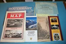 LOT OF VINTAGE ALASKA MAPS, VINTAGE ALASKA TRAVEL BROCHURES & ALASKA GEOGRAPHIC