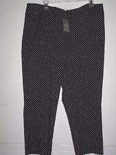 CHICO'S 3 (XL) SO SLIMMING CROP NWT$89.00 BLACK /WHITE DOT  PANTS $ 26.00
