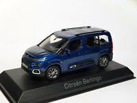 Citroën Berlingo vitré de 2020  au 1/43 de NOREV 155763 Bleu foncé