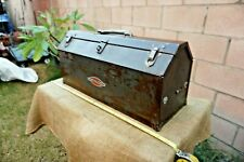 Vintage 1940's Craftsman Tombstone Tool Box With Tray Heritage Logo 19.5X 8 x 7