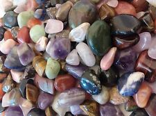 """TUMBLE POLISHED STONES 1/2Lb Mix """"A"""" grade Premium Assortment all natural stones"""