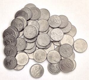 Lot of 50 One Peso Period 1984 - 1987 AU Conditions