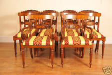 Walnut Dining Chairs - Regency with Marquetry Inlay Set 10