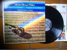 "LP 12"" MOZART BRUNO WALTER SYMPHONY N. 11 JUPITER  N. 35 HAFFNER COLUMBIA 6 EYE"