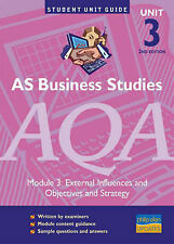 Very Good, AS Business Studies AQA Unit 3: External Influences/Objectives & Stra