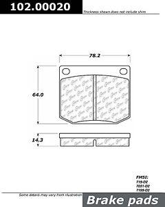 Frt Semi Met Brake Pads Centric Parts 102.00020