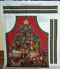 "1 Beautiful ""Christmas Feast Apron"" Christmas Cotton Fabric Panel"