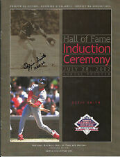 2002 National Baseball Hall of Fame Induction Program Autograph by OZZIE SMITH