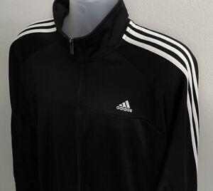 Adidas Men's Essentials 3-Stripes Tricot Track Top Jacket XL Black