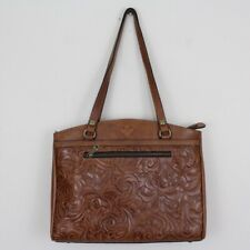 New ListingPatricia Nash Italian Leather Burnished Tooled Florence Poppy Tote Bag Nwt $199