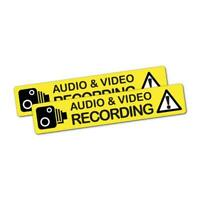 Audio & Video Recording Sticker / Decal - Warning Caution Vinyl Car Window Ute
