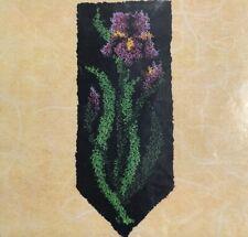 Spring Iris Latch Hook Kit Rug Wall Hanging Craftways